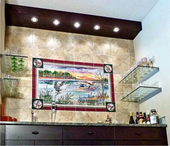 Hand Painted Kitchen Tiles: Custom Kitchen Backsplash Murals & Hand Painted Tiles In